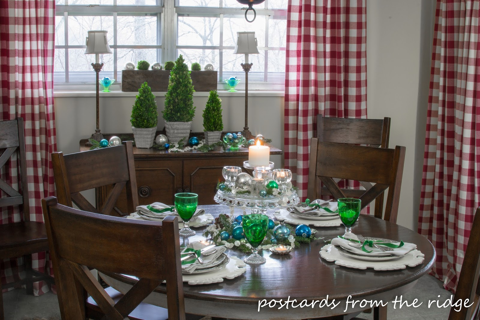 Holiday Tablescape Ideas Using Mostly Vintage Items
