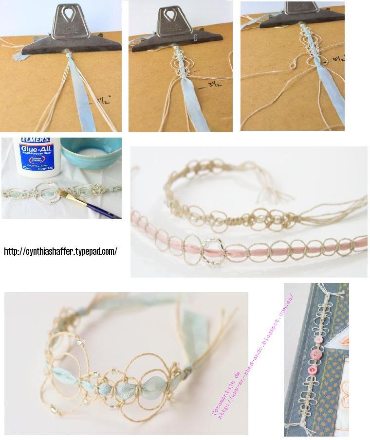 pulseras, brazaletes, hilo, manualidades, bisutería, diys