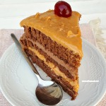 So easy ! 4 Layer Cake with different fillings - Moist, decadent and the best Chocolate Cake ever !