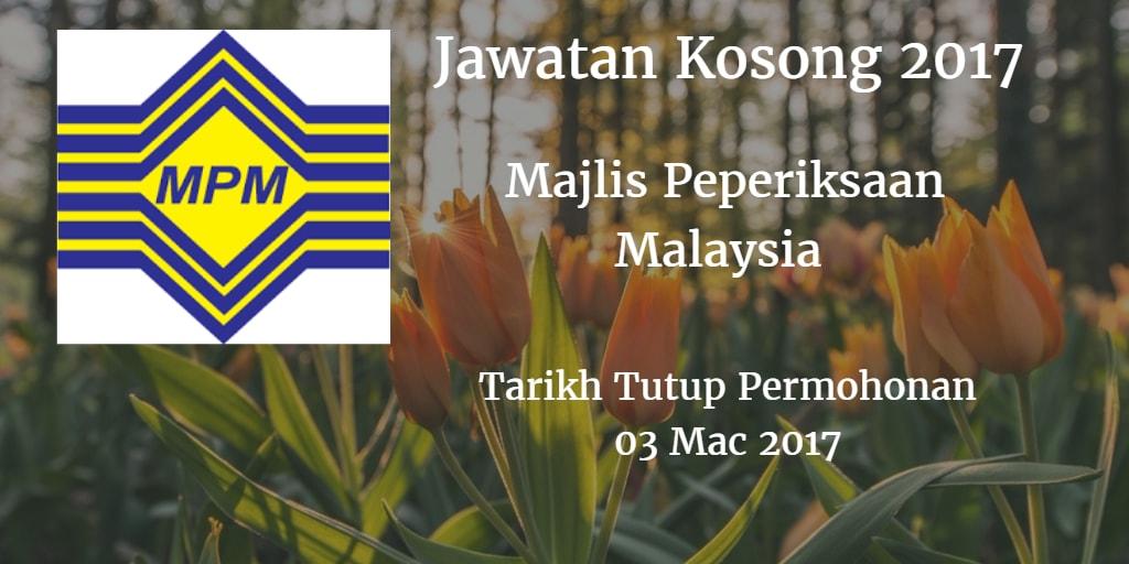 Jawatan Kosong MPM 03 Mac 2017