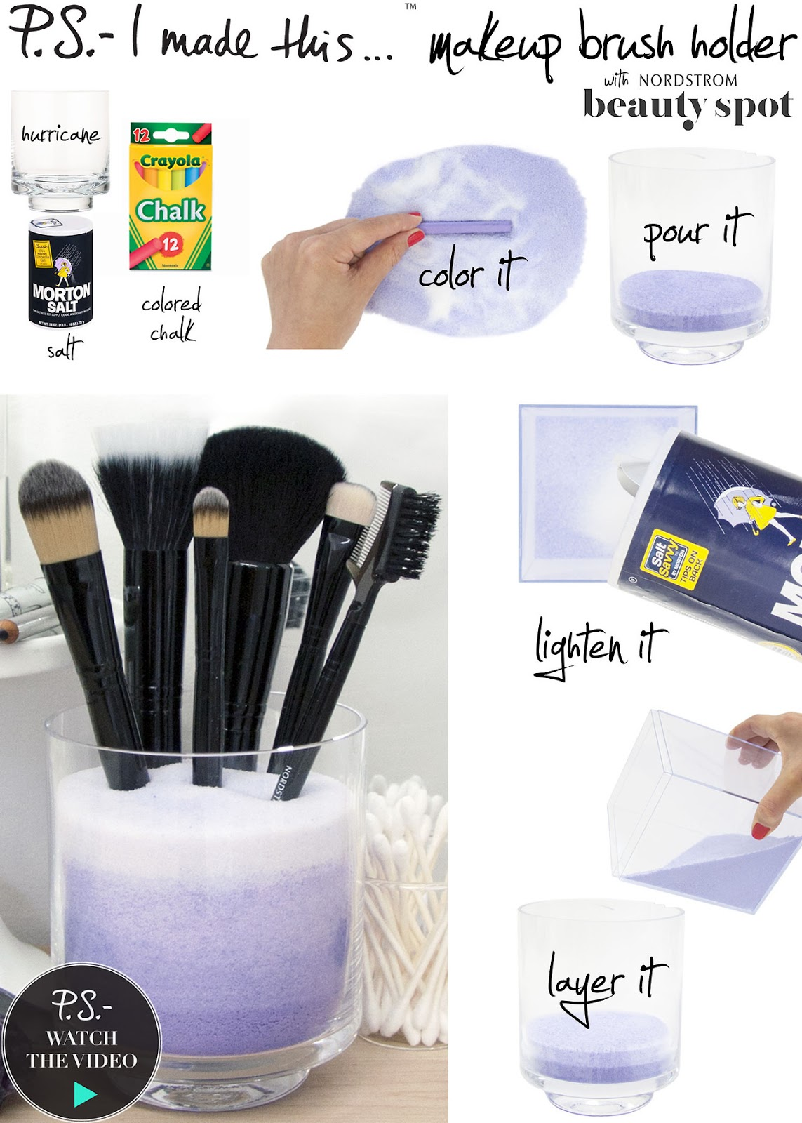 SOBBING ON FIFTH: DIY Makeup Brush Holder