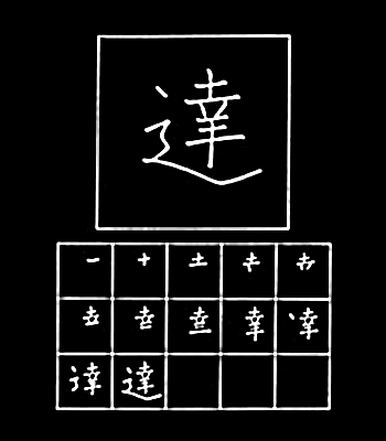 kanji mencapai