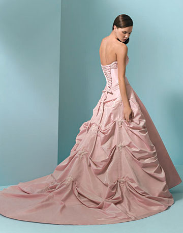 Beautiful New Wedding Gown Pink Colour - Wedding Dress Obsessed