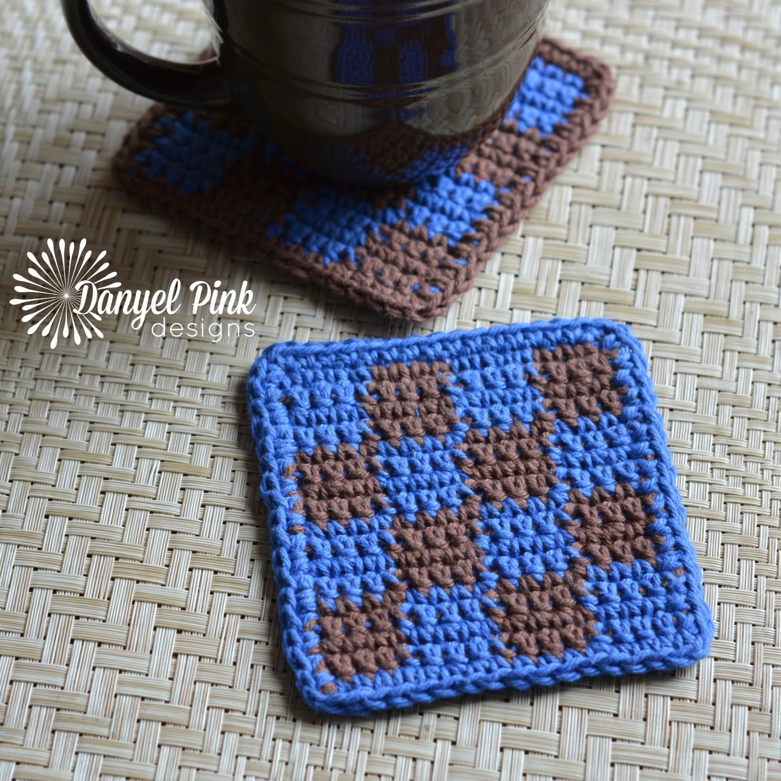 Danyel Pink Designs: CROCHET PATTERN - Square Tile Coasters