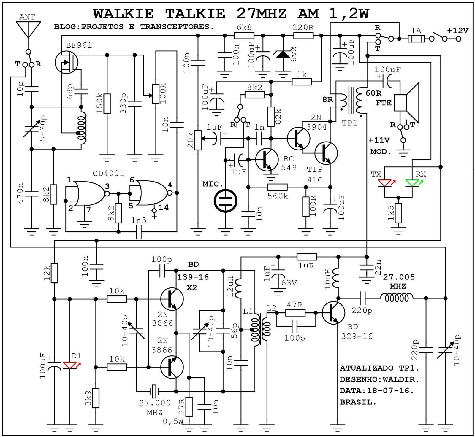 circuito walkie talkie casero  c u00f3mo hacer un walkie talkie