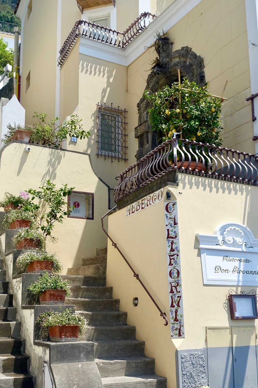 Streets of Positano Italy