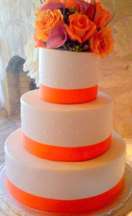 orange and white wedding cakes bernardo s flowers orange flower cake decor 18042