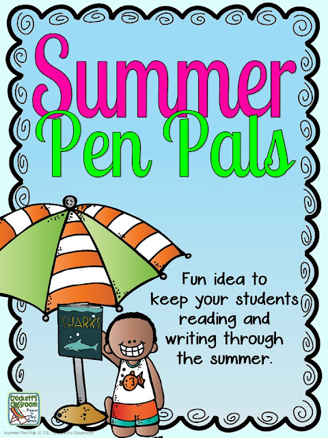 Summer Pen Pals, super easy and fun idea to encourage your students to read and write through the summer.
