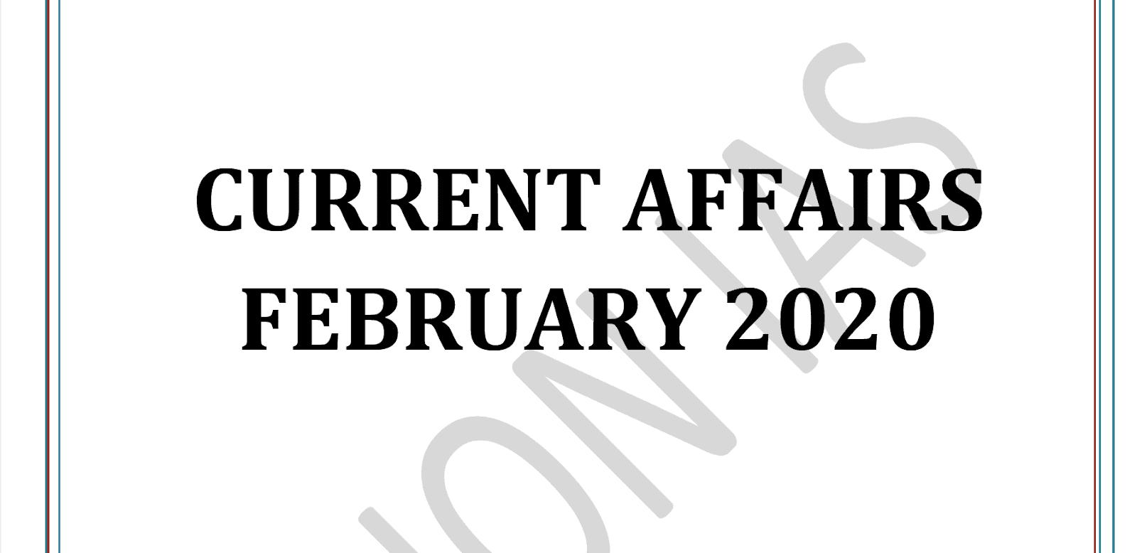 Vision IAS Current Affairs February 2020 pdf
