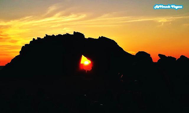 Por do sol Pedra Furada Jeri em julho