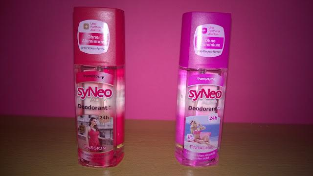 syNeo Deodorant 2 verschiedene Sorten.