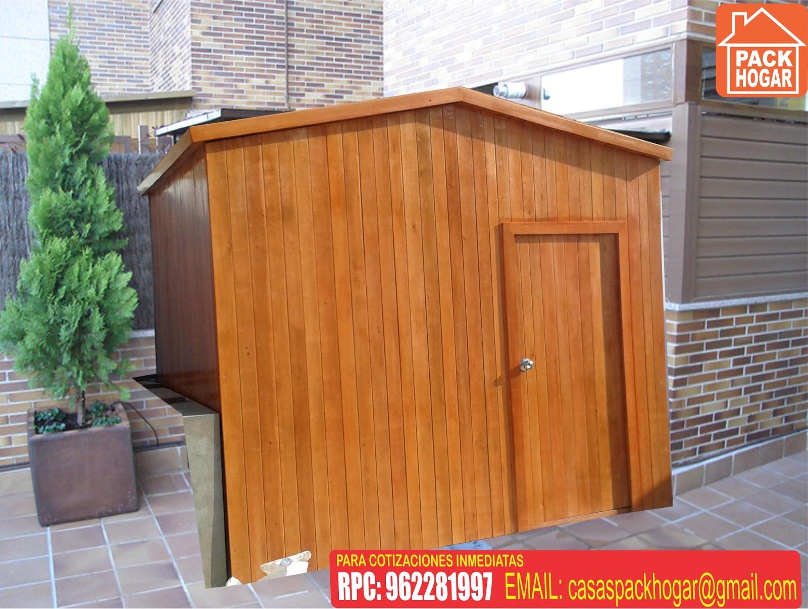 Casetas prefabricadas para terrazas packhogar - Casetas prefabricadas jardin ...