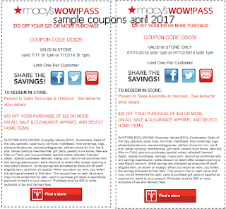Macy's coupons april