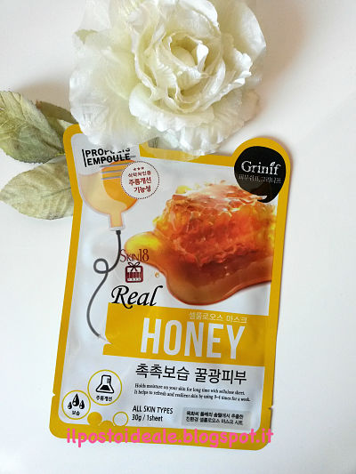 Grinif Real Honey Cellulose Facial Mask