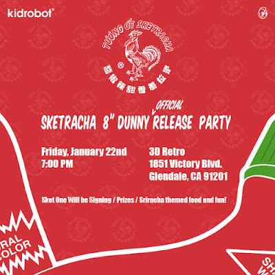 "Sketracha 8"" Dunny by Sket One x Kidrobot Release Party at 3DRetro!"
