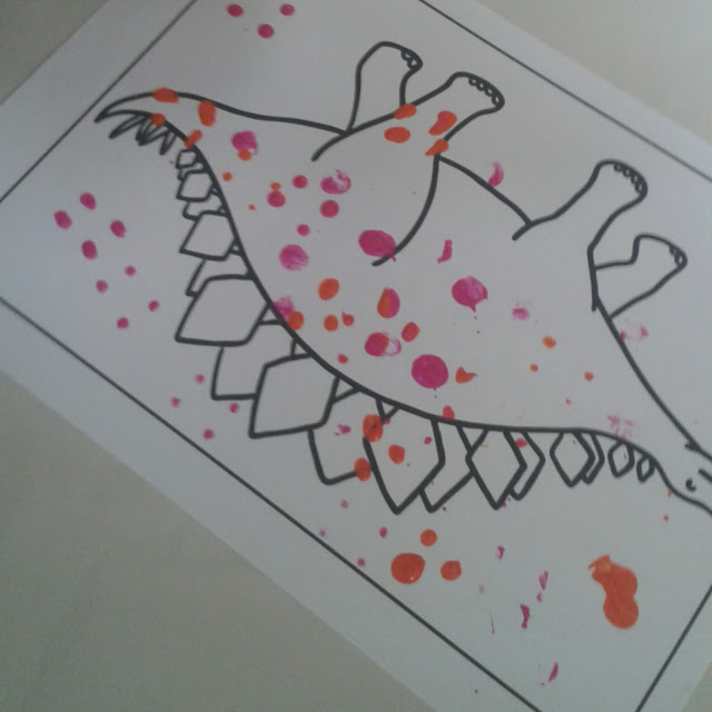 Dinosaur Stomp painting,