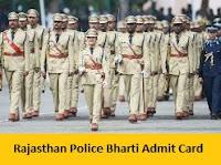 Rajasthan Police Bharti Admit Card