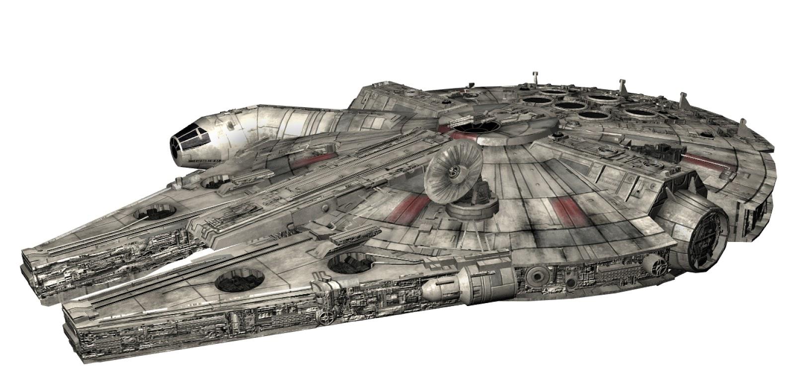 Game Ready Star Wars Millennium Falcon 3D model