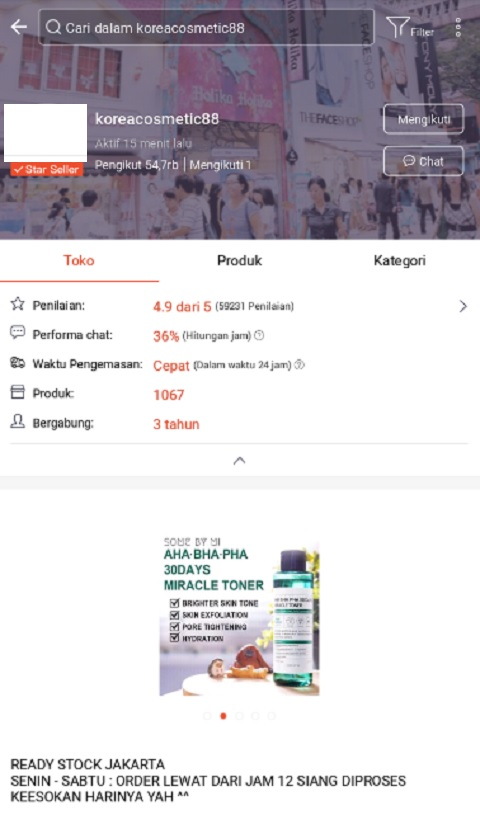 koreacosmetic88 Toko Kosmetik Terlaris di Shopee