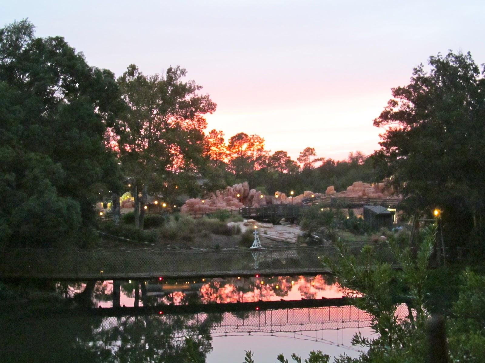 Sunset at the Magic Kingdom, Orlando, FL - ouroutdoortravels.blogspot.com