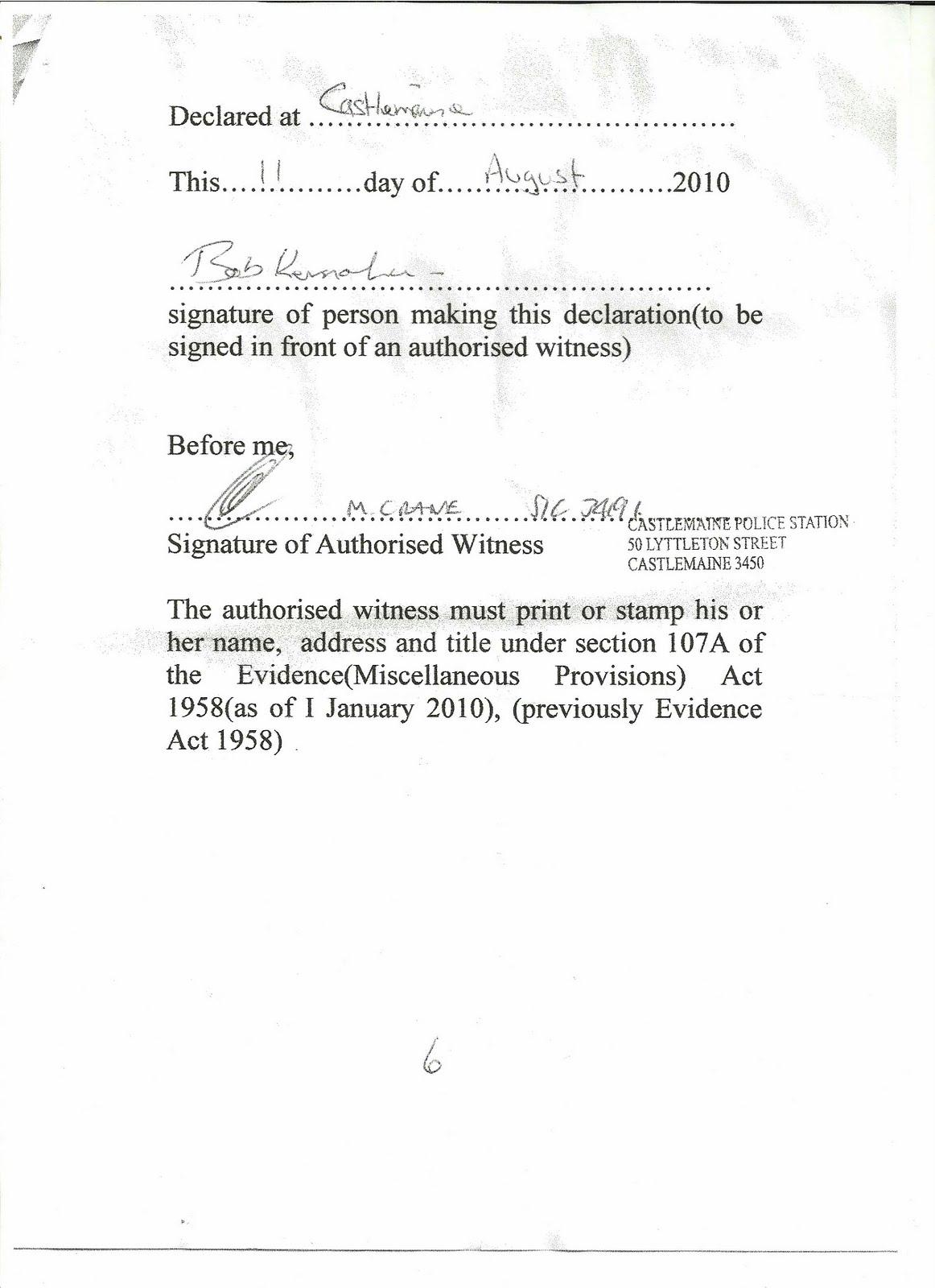 Affidavits and statutory declarations