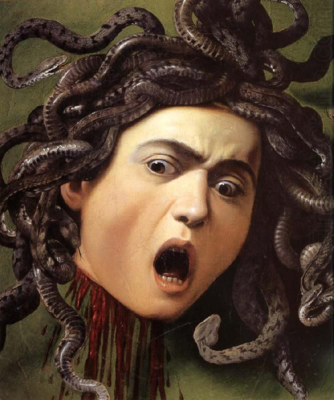 Medusa de Caravaggio. Galeria Uffizi