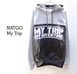 Jaket Fleece Hoodie My Trip My Adventure MTMA002
