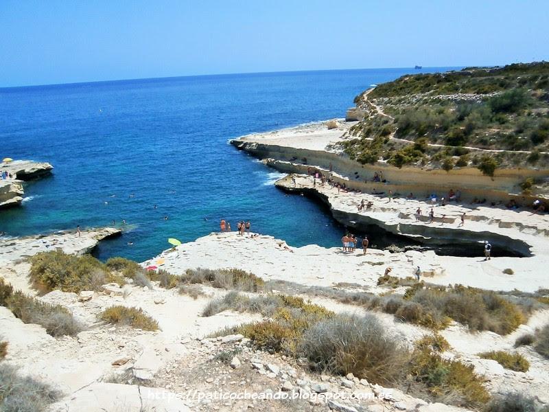 Playas de Malta: ST. PETER'S POOL- ST PAUL BAY'S