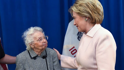 103-year old woman votes early for Hillary Clinton