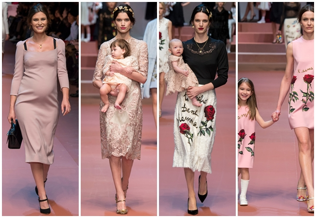 cf. Dolce & Gabbana 2015 AW Nude Silk Tulle Dress With Applique Roses