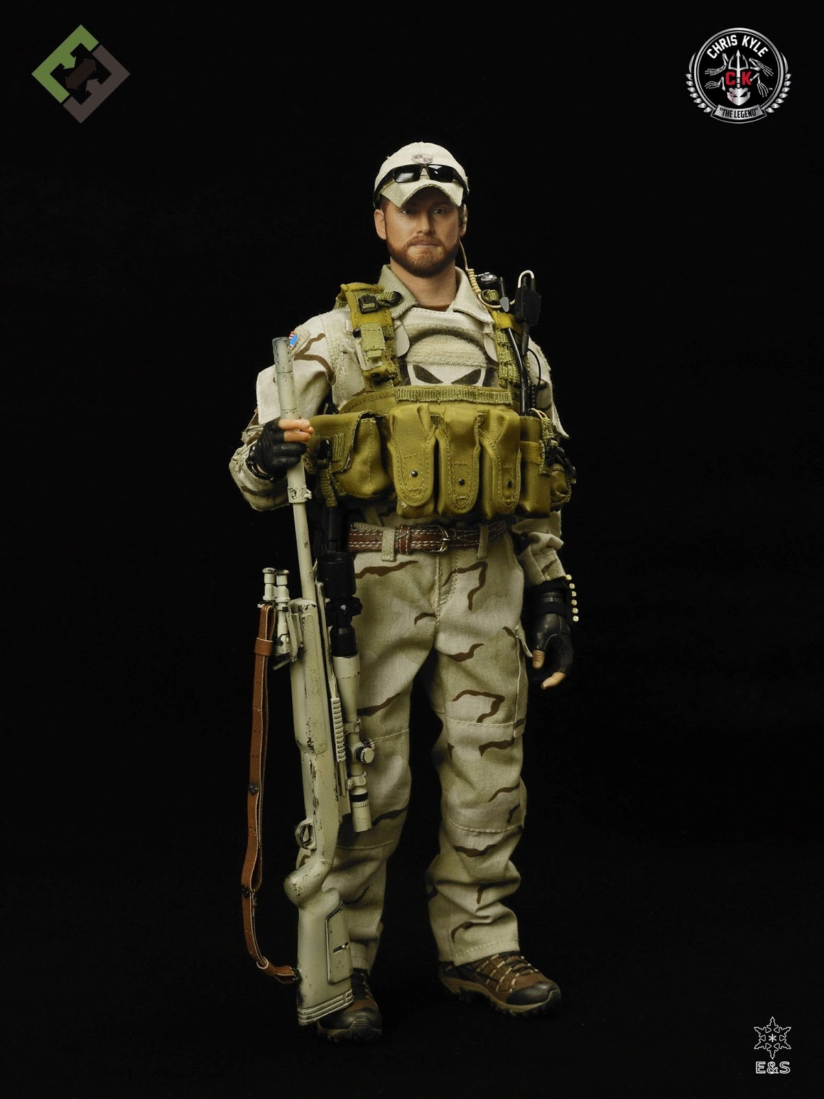 One Sixth Military Figure : E&S CHRIS KYLE (NAVY SEAL Sniper)