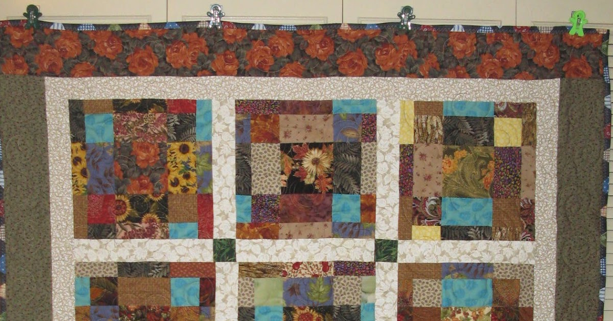 Life Is Like A Patchwork Quilt Fractured Nine Patch Pattern