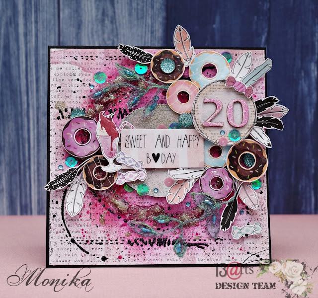 Słodka kartka z okazji urodzin/ Sweet birthday card