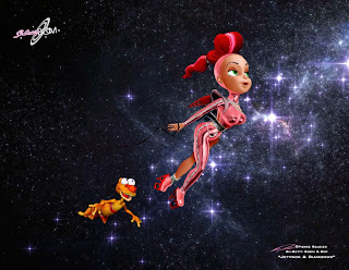 "Sh-Betty Boom & Bop - ""Jetpack & Diamonds"" - 3D character design & maquette by ©Pierre Rouzier"