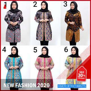 BTK0136B275 Tunic Batik Zipper BMGShop