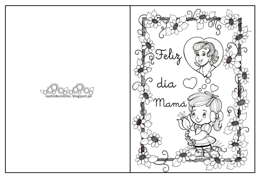 Puntadas de mamâ♥: Tarjetas día de la madre para colorear