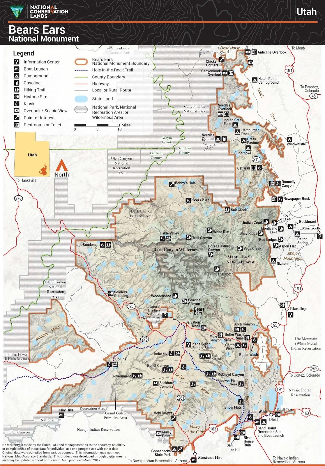 Bears Ears National Monument Climbing Hiking Mountaineering