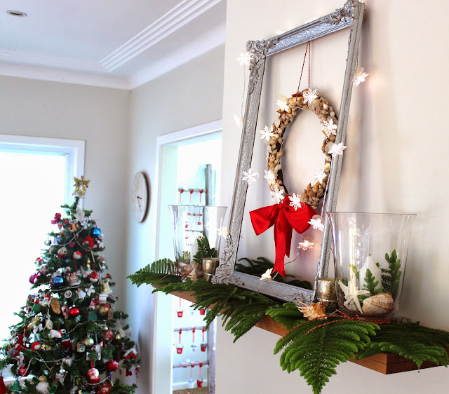 How To Style A Coastal Christmas Mantel Desire Empire