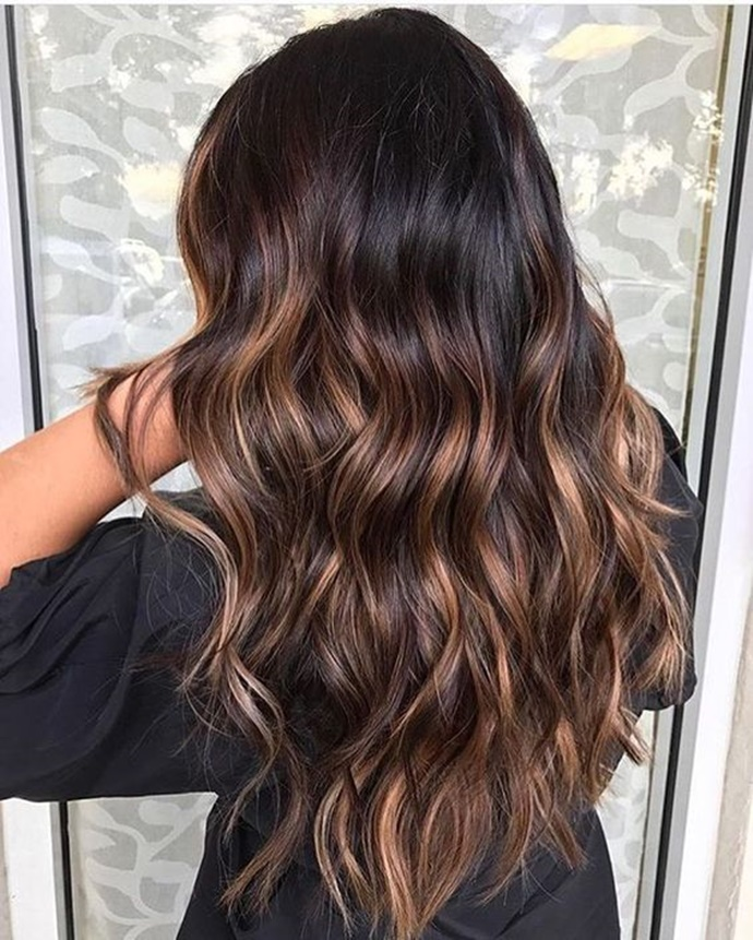 6 Hot Partial Highlights Ideas For Brunettes 4 Dark Hair