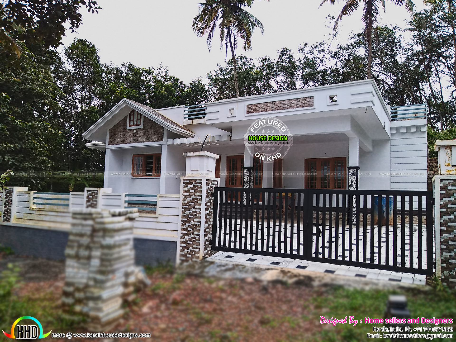3 bedroom 1400 sq ft house kerala home design and floor for 1400 sq ft house