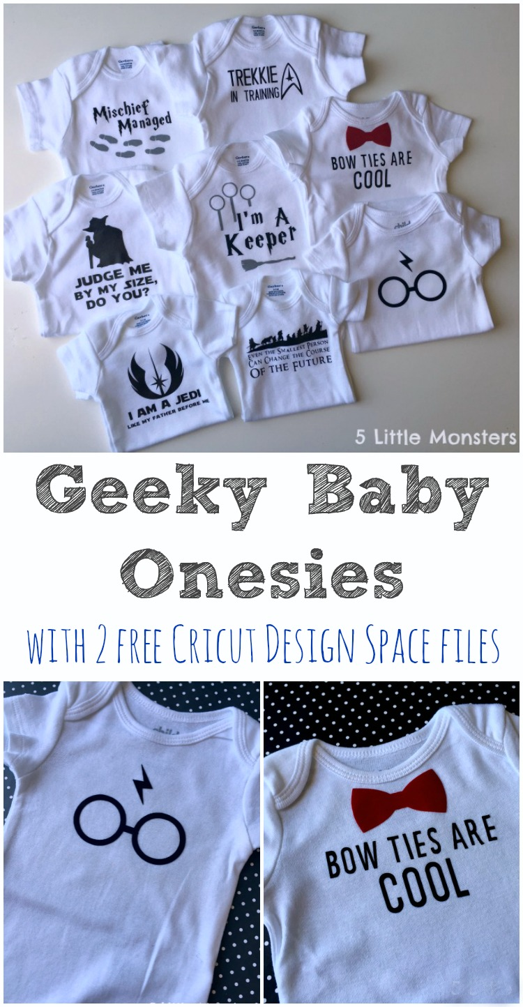 5 Little Monsters: Geeky Baby Onesie Ideas- Plus 2 Free ...