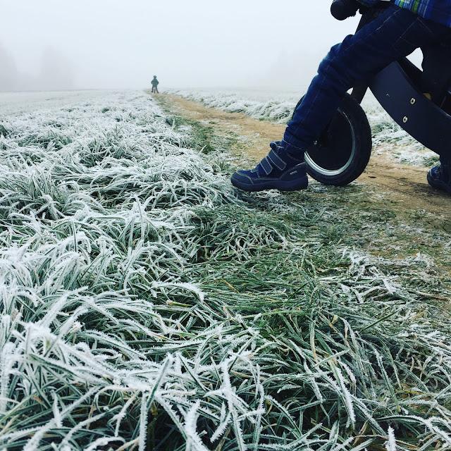 Laufrad fahren mit Frost