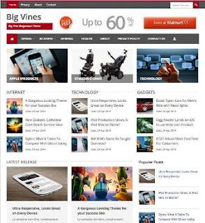 Big Vines - Magazine Blogger Template