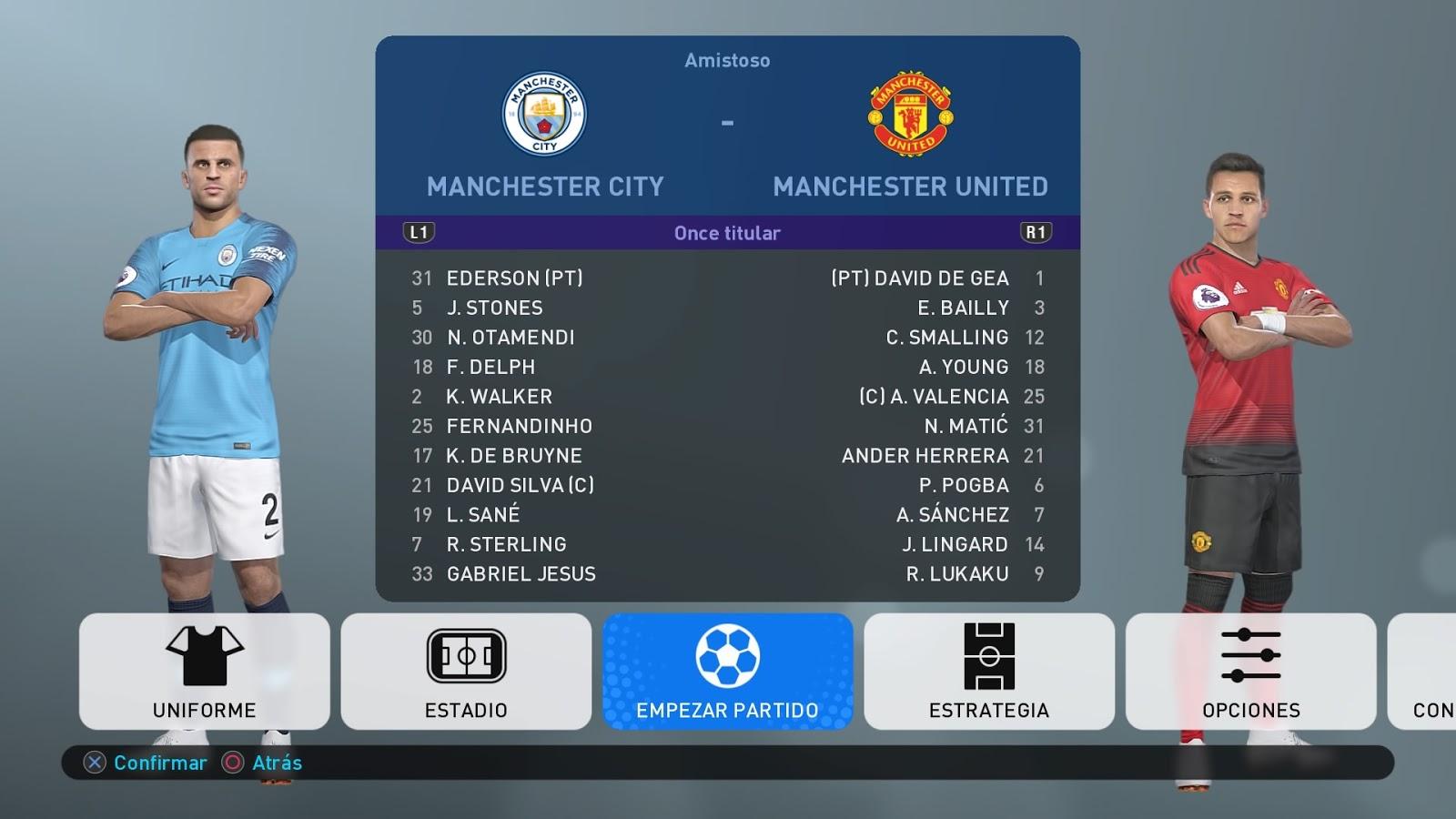 PES2019 | Option File | Ps4 | English Premier League [26 08 2018