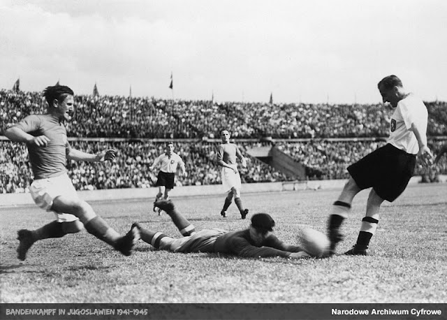 The first match of the national football team of Croatia, played against Germany in Vienna 15 June 1941 worldwartwo.filminspector.com