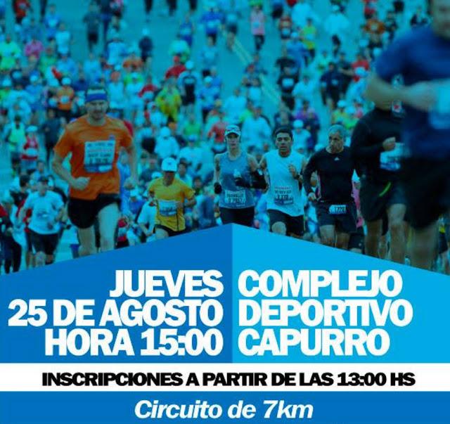 7k Recorriendo San José en Complejo Deportivo Capurro (SJ, 25/ago/2016)