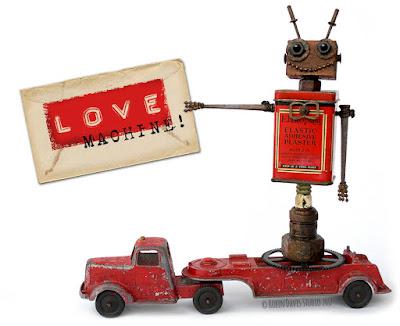 Robot Valentine by Robin Davis Studio