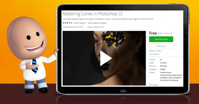 [100% Off] Mastering Curves in Photoshop CC| Worth 100$