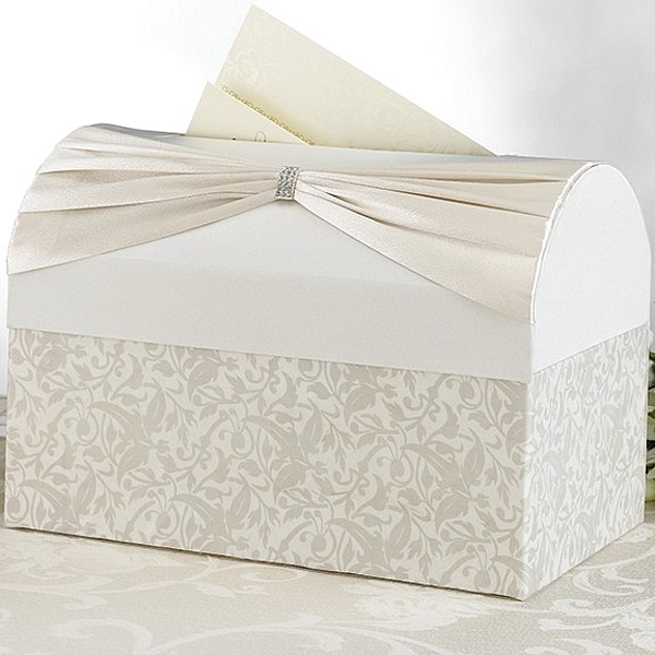 Ivory Satin Treasure Chest