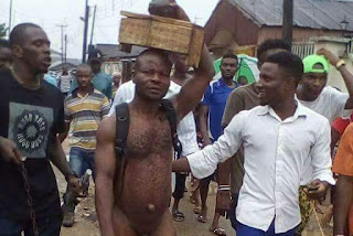 Boy Paraded Naked After Girlfriend Caught Him Incantations